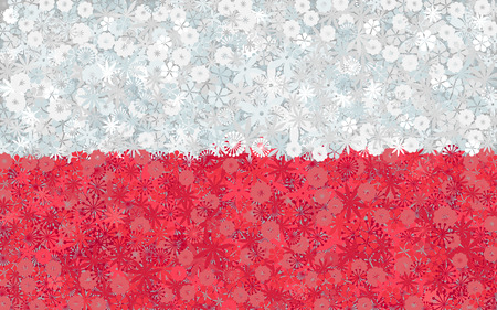poland: Flag of Poland with flowers Illustration