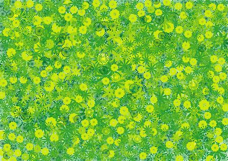 green background: Green floral background Illustration