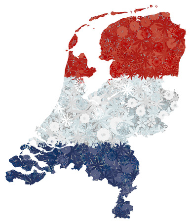 map of netherlands: Flag and map of Netherlands. Vector image, isolated on white. Clipping path included in jpeg file Illustration