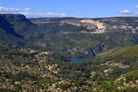 toulon: View on Pas De Leydet defenses from Faron mountain, France