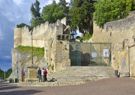 Entry to the castle of Beaucaire, France