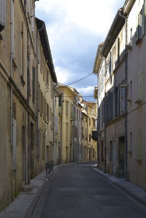 Side street in the city center of Beaucaire, Languedoc-Roussillon, France