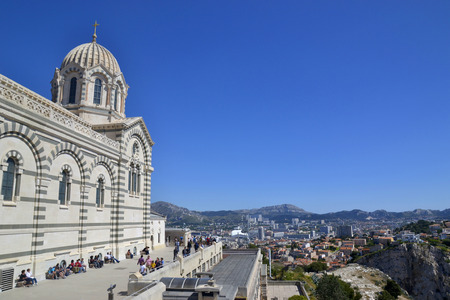 View on the city of Marseille from Basilique Notre Dame de la Garde, France