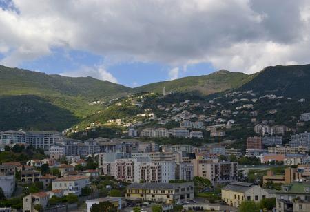 View on the mountain part of Bastia city, Corsica, France Zdjęcie Seryjne