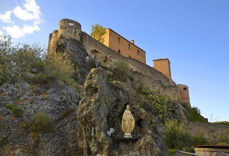 Citadel in Corte on Monte Corso, Corsica, France Zdjęcie Seryjne