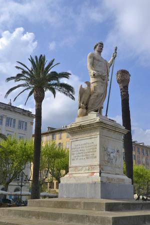 Statue of Napoleon in Bastia, Corsica, France Publikacyjne