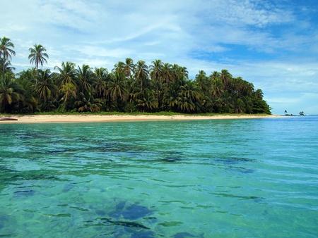 Beach in Zapatillas islands, Bocas del Toro, caribbean sea, Panama photo