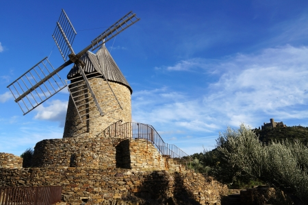 roussillon: Wind mill of Collioure, Roussillon, Vermilion coast, France