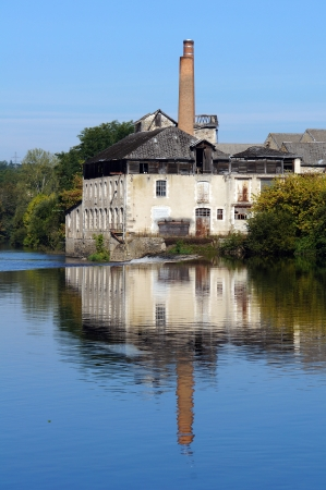limousin: Old tannery along the Vienne River in Saint-Junien, Limousin, France