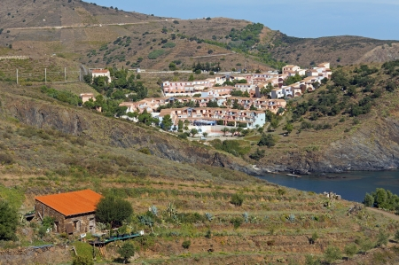 vermilion coast: Vacation village of Terrimbo in the south of France, Vermilion coast, Mediterranean Stock Photo