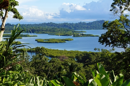 islets: Tropical landscape with islets in the archipelago of Bocas del Toro,Caribbean sea, Panama