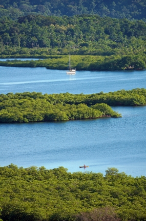 archipelago: Tropical landscape with mangrove islets in the archipelago of Bocas del Toro,Caribbean sea, Panama