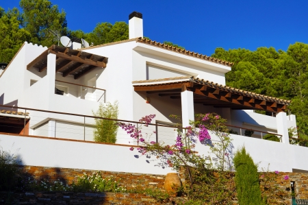 mediterranean home: Mediterranean villa recently built, Rosas, Costa Brava, Catalonia, Spain