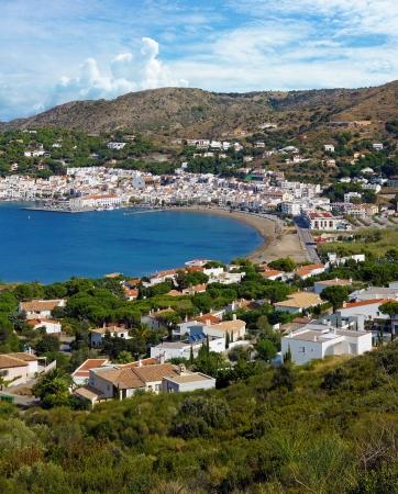 selva: Bay of the typical Mediterranean village Puerto de la Selva, Costa Brava, Catalonia, Spain Stock Photo