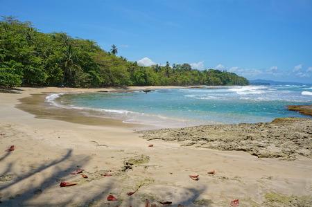 viejo: Caribbean beach of Costa Rica, playa Chiquita, Puerto Viejo de Talamanca Stock Photo