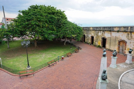 viejo: Plaza de Francia, a square in the Casco Viejo, the historic district of Panama City, Panama, Central america