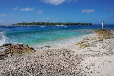 atoll: The Tiputa pass, atoll of Rangiroa, Tuamotu archipelago, French Polynesia, Pacific ocean