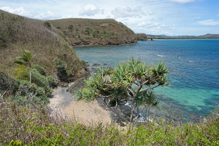 south pacific ocean: Secluded cove on the coast of Grande Terre near Bourail, New Caledonia, south Pacific ocean