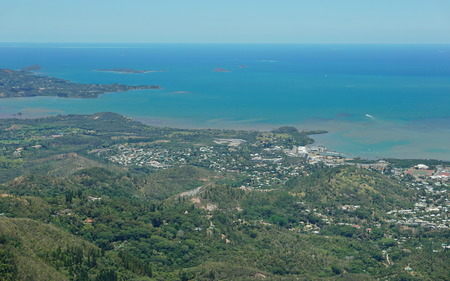 south pacific ocean: Aerial view, Boulary and Saint-Michel district, Noumea city, southwest coast of Grande Terre, New Caledonia, south Pacific ocean