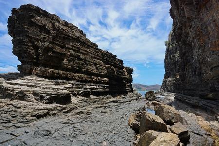 subtropical: Rocky coastal landscape in New Caledonia, Bourail, Grande Terre island, south Pacific