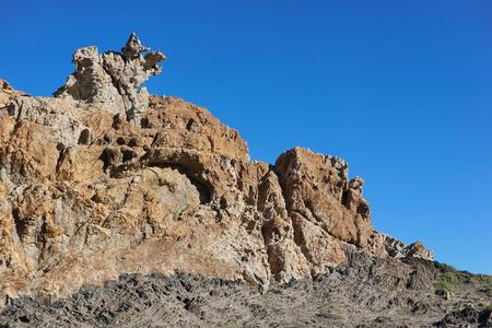 Strange rock formation in Cap de Creus natural park, Spain, Costa Brava, Catalonia, Girona, Mediterranean