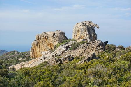 Spain Cap de Creus natural rock formation, Costa Brava, Catalonia, Girona, Mediterranean