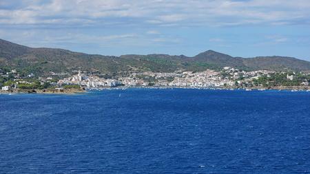 Spain Cadaques village coastline panorama, Mediterranean sea, Costa Brava, Alt Emporda, Catalonia