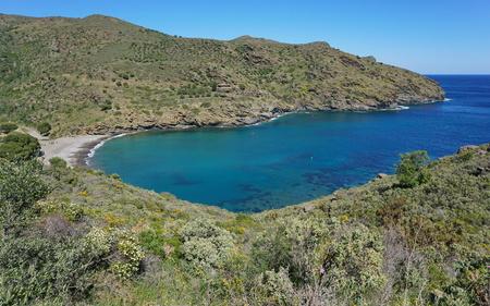 Spain Mediterranean cove Cala Joncols between Roses and Cadaques, Costa Brava, Alt Emporda, Cap de Creus, Catalonia