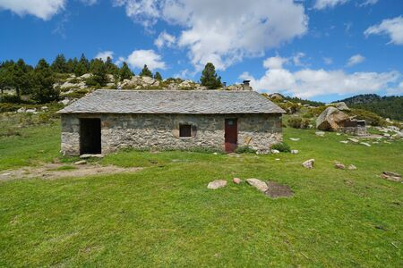 Shelter in the mountain, Pyrenees-Orientales, France, natural park of the Catalan Pyrenees Reklamní fotografie