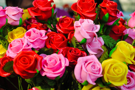 represent: Valentine roses represent love Stock Photo