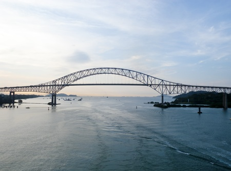 Trans American bridge in Panama connected South and North Americas Editorial