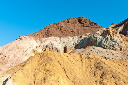 Colorful stones of Artist Drive in Death Valley photo