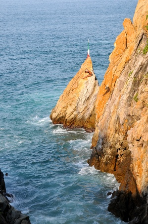 Cliff diver in the free fly Stock Photo - 12837068
