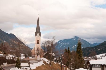 Evangelic church in Austrian mountain village