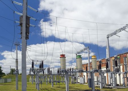 Systems of distribution and switching of power electric energy for a small city. photo