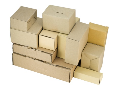 Heap of cardboard small boxes of industrial design Stock Photo - 10972072