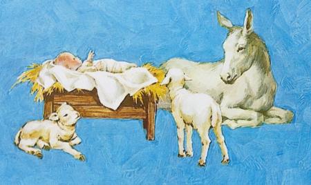La naissance du Christ, une fresque sur le mur du temple