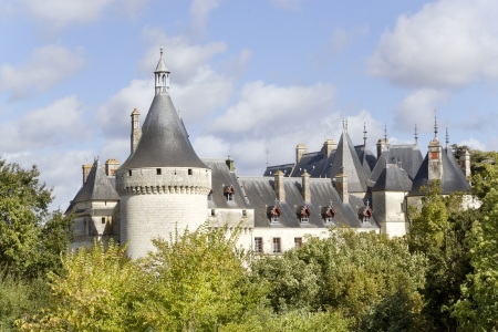 public domain: Public domain French  castle in forest. Sunny autumn day Editorial
