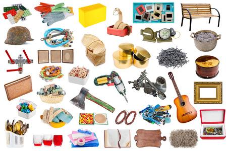 objetos de la casa: Objetos y herramientas comunes de la casa simple aislado establecen. Todas las im�genes a tama�o completo es en mi cartera