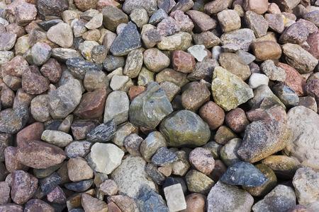 cobble: Small granite colorful cobble stones background