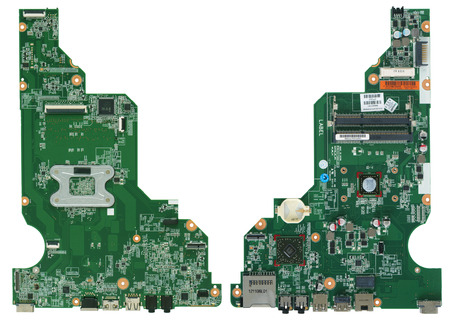 hard component: VILNIUS, LITHUANIA - AUGUST 13, 2015: Sony laptop mother board it is damaged from lighting. Fragments of the burned elements of the printed-circuit board are visible.  Isolated. In 2014  Sony stopped laptop production because of crisis