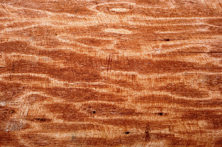 emery: The wooden waves oak surface is painted with brown paint and peeled by a rough emery cloth Stock Photo