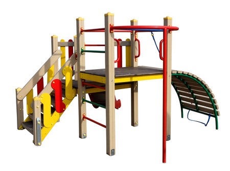 no name: Childrens empty mass production no name playground isolated.