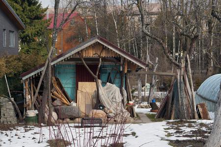 emigranti: Gli emigranti slum e capannone nella zona urbana della zona residenziale della citt�. In qualsiasi paese europeo emigrati non vogliono osservare le leggi universali