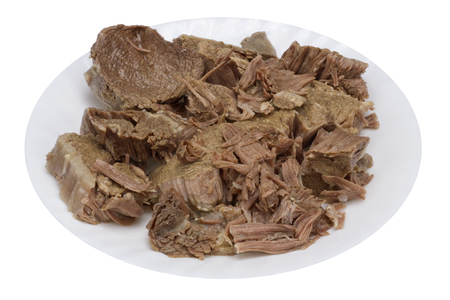 hemoglobin: Boiled meat of beef and veal - a basis of dietary food for hemoglobin restoration. Isolated