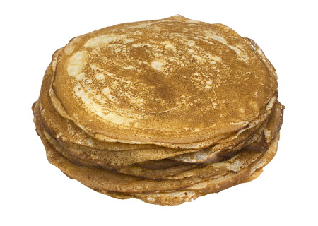 unleavened: Stack  heap fresh thin bread -  unleavened wheat cakes. Isolated