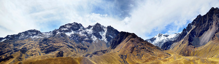 ridges: The Andes (or the Southern Cordilleras) - a big panorama of the Peruvian highest tops, ridges and mountains. Collage from several photos