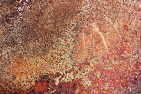 rust red: Ideal red rust on an iron surface texture background Stock Photo