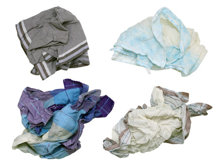 snotty: Snotty dirty mens handkerchiefs - winter, this most  time concept. Isolated on white set