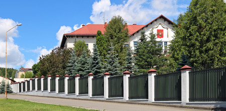 VILNIUS, LITHUANIA - JULY  06, 2017:  The building of the Russian Embassy in Lithuania is located in the historic  green elite central area of the capital - Zverinas (Zoo park)